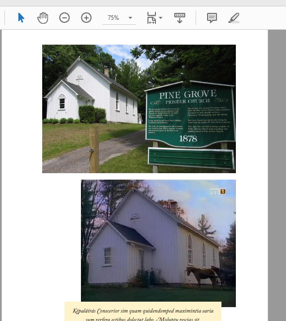 Egy másik fotós oldal, ahol szépen látszik az Avonlea templom eredeti képe, jártam a helyszínen, alatta pedig a sorozatból egy jelenet.