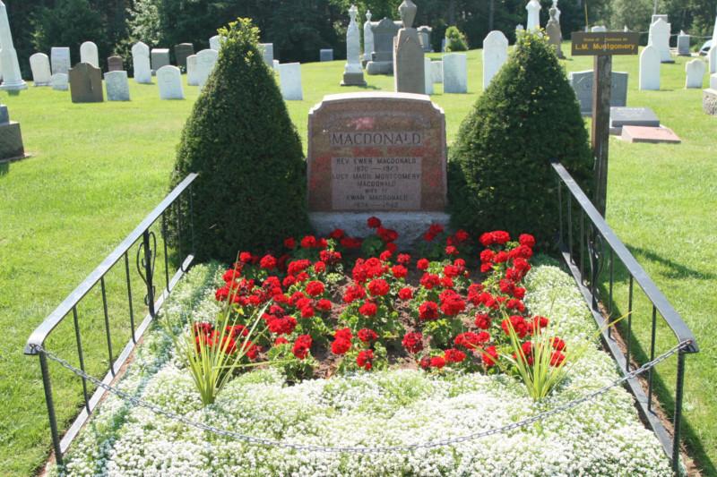 LM Montgomery sírja a cavendishi temetőben