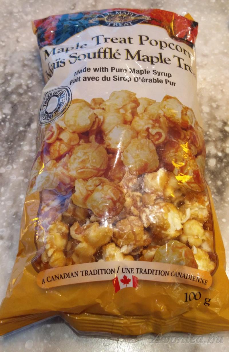 Juharszirupos popcorn