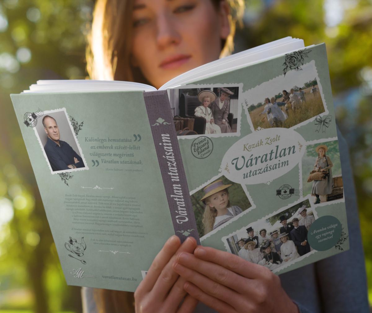 Egy fiatal lány olvassa a Váratlan utazásaim című könyvet