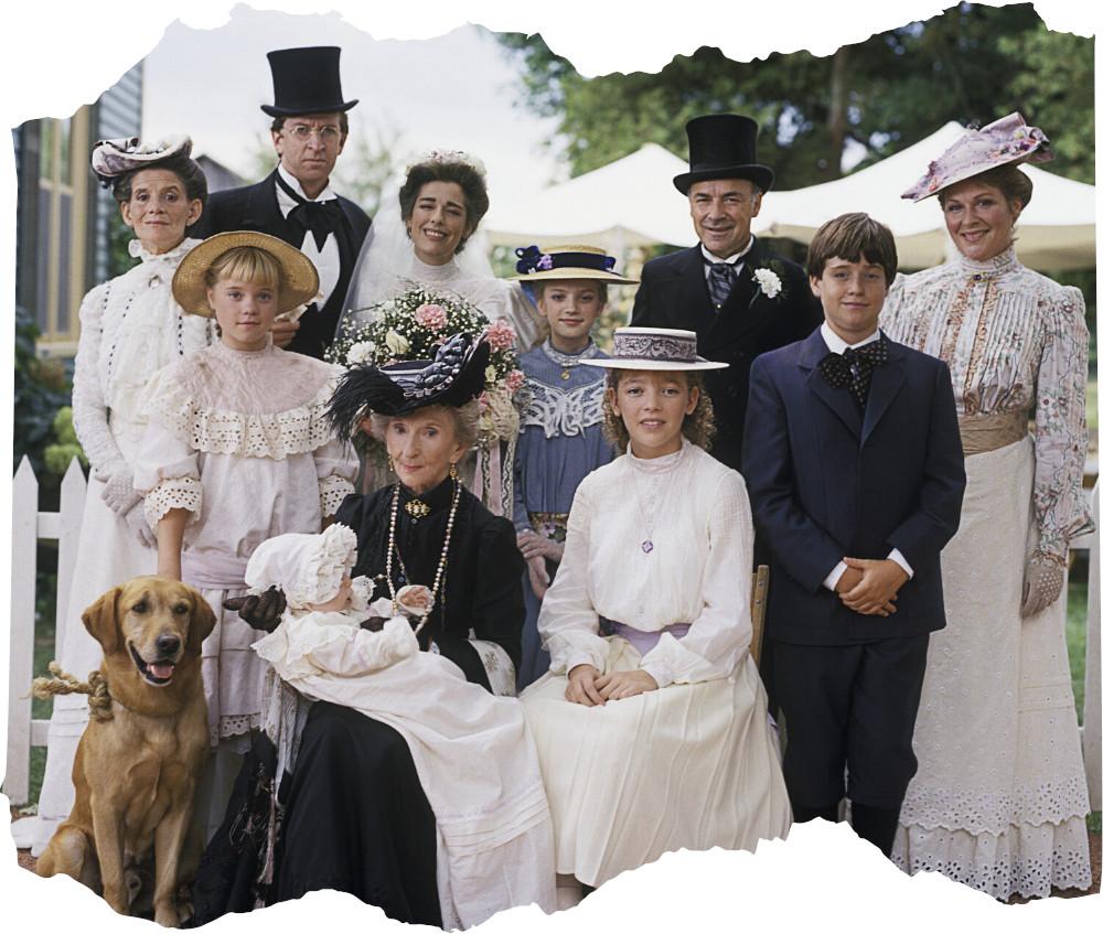 A King család esküvői képe Olivia esküvője után