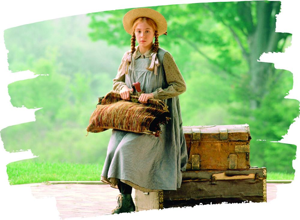 Anne Shirley vár a Bright River állomáson