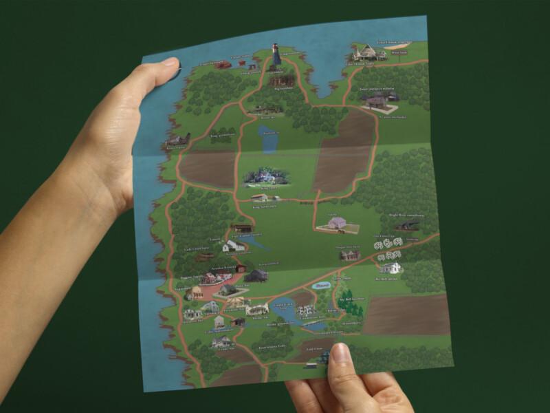 Avonlea és környéke térkép