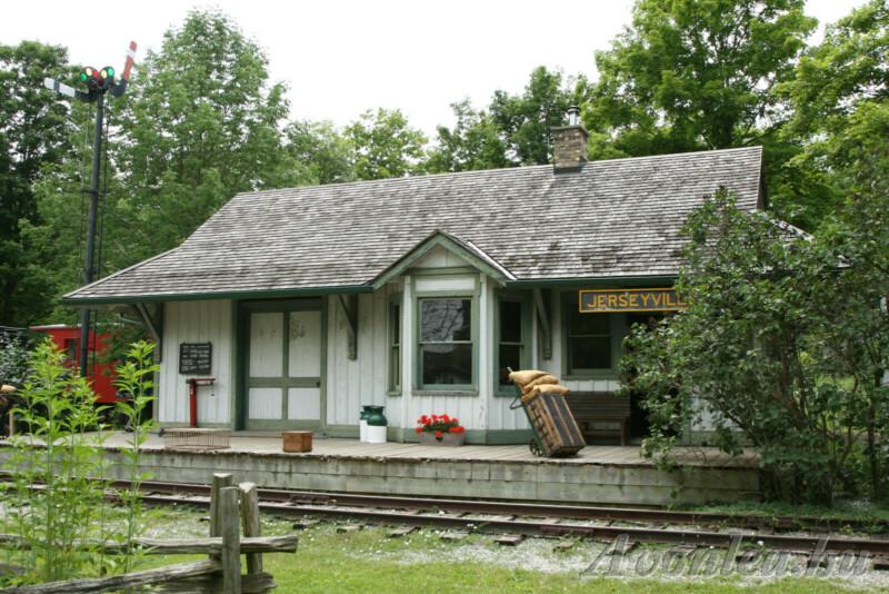 A Bright River, vagyis Jerseyville vasútállomás a Westfield falumúzeumban 2009-ben