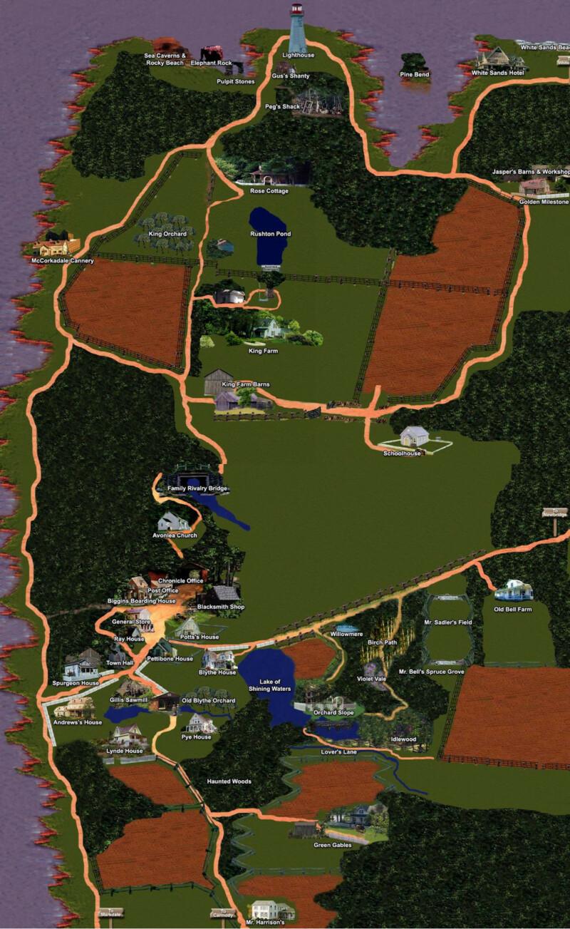 Jan Avonlea térképe