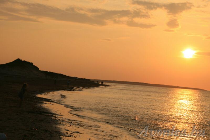 Naplemente a Cavendish beachen, a Prince Edward-szigeten