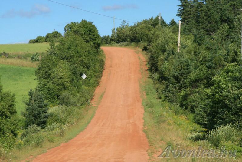 Vörös színű út a Prince Edward-szigeten