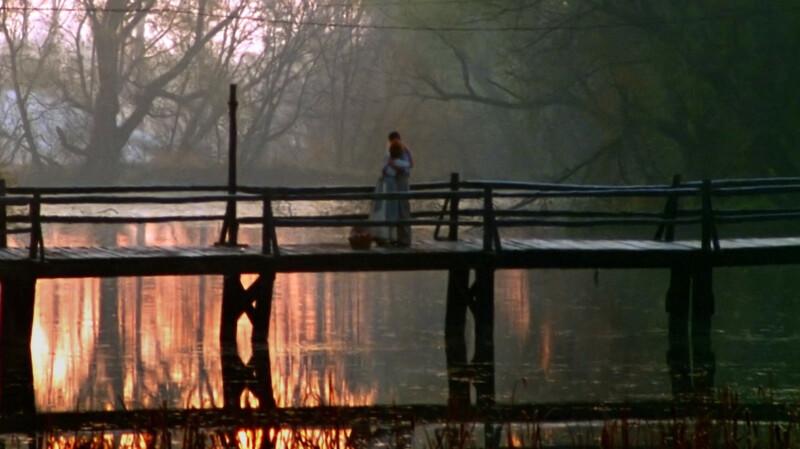 Jelenet az Annából: Gilbert megcsókolja Anne-t a hídon